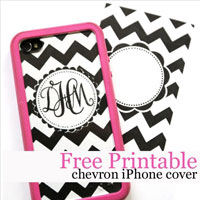 iPhone cover free printable