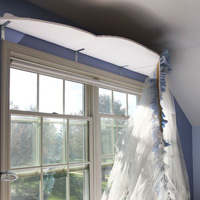 Reverse Decorating: How I Made a Bed Canopy Window Treatment
