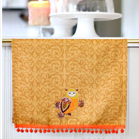 Appliqued Decorative Dish Towel