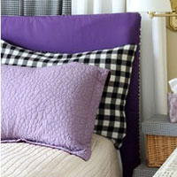 Easy-Sew Reversible Padded Headboard Cover