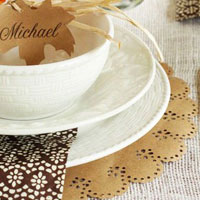 Holiday Placemats Made with Martha Stewart Crafts Circle Edge Punch
