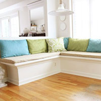 Easy to sew pillows for a banquette