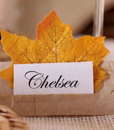Fall Table place setting ideas