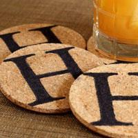 Handmade Hostess Gift: Initialed Coasters