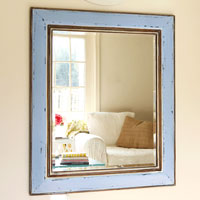 Before & After Mirror Makeover Using Glaze