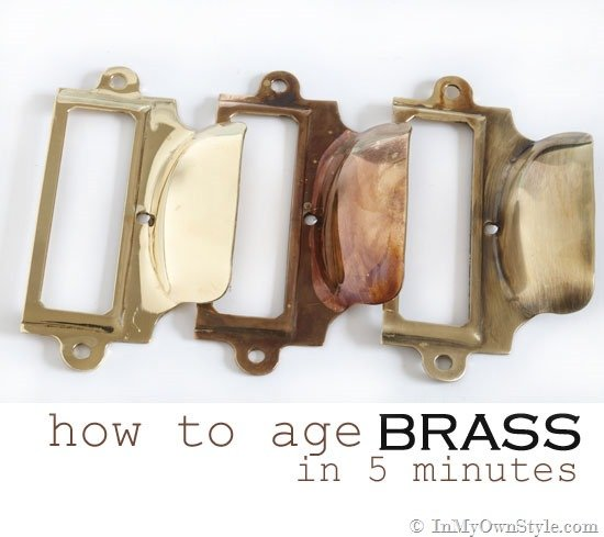 How to age brass in 5 minutes or less