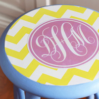 Easy to make monogram stool