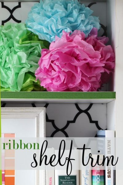 Decorating with Ribbon: Shelf Trim