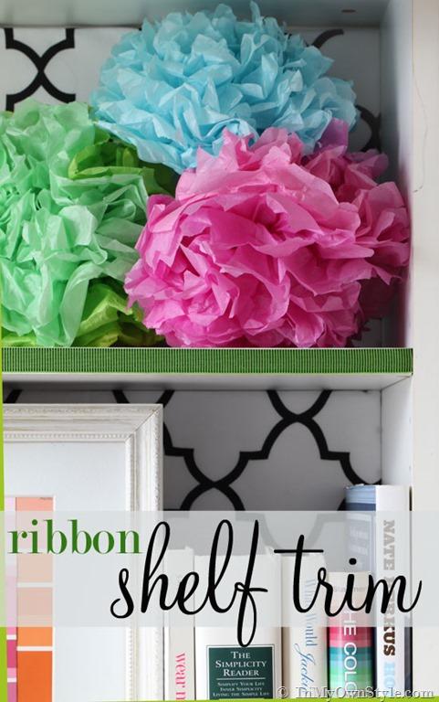 Decorating Ideas Using Ribbon - Shelf trim