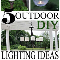 Outdoor DIY Lighting Ideas