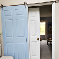 How to install a rolling door in a house