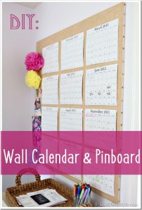 DIY Wall Calendar and Planner Pin Board