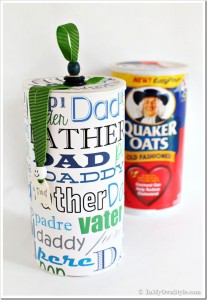 Creative ways to use an oatmeal container as a gift box