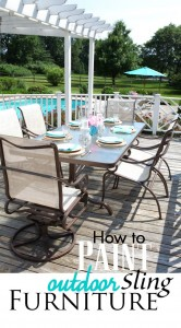 how to paint a metal patio set using spray paint