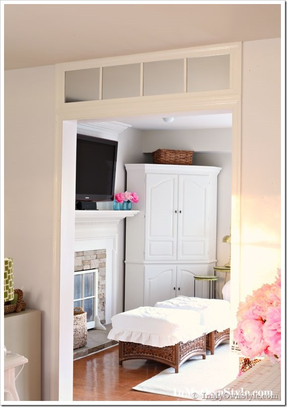 How to make a faux door or window transom