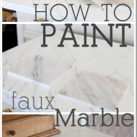 How to paint faux carrara marble