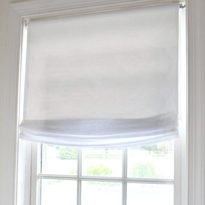 No Sew Window Treatment: Relaxed Roman Shades