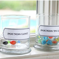 Losing Pounds & Gaining Marbles + Free Printable