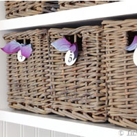 How to stain baskets grey or gray
