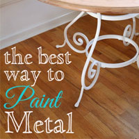 Kitchen Update – Painting Metal Furniture