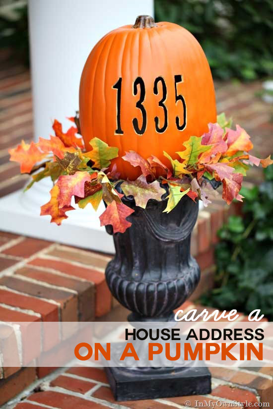 How to Carve Your Address into a Pumpkin with a Hot Knife