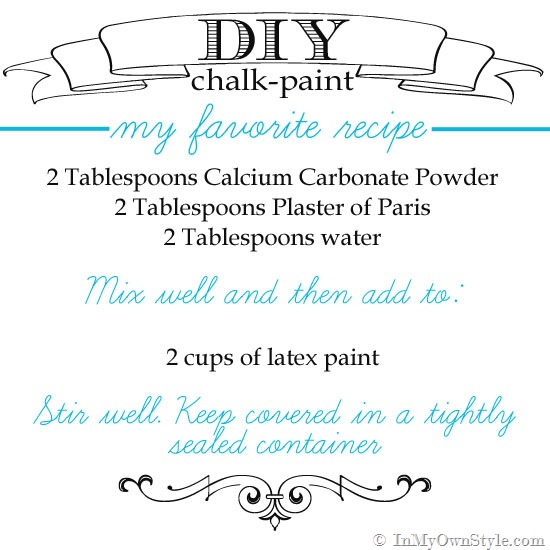 Make your own chalk paint recipes