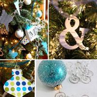 Semi-Handmade Paper Christmas Ornaments