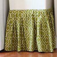 Hidden Storage Idea:  Table or Sink Skirt