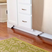 How to make kitchen base cabinet feet the easy way