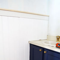 Powder Room Makeover Update:  Installing Wall Panels
