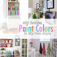 My House:  Paint Colors