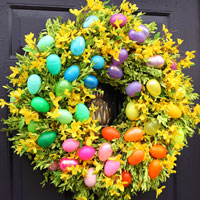 Spray Painted Spring Easter Wreath