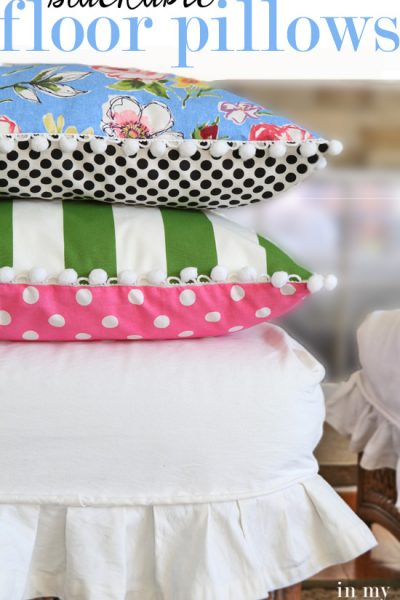 How to Make Stackable Floor Pillows