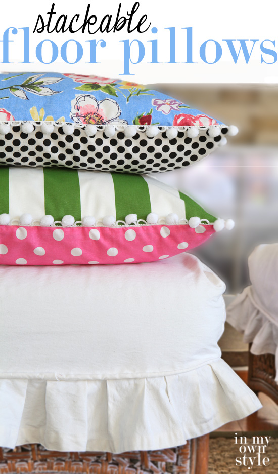 How-to-make-stacking-floor-pillows-with-trim