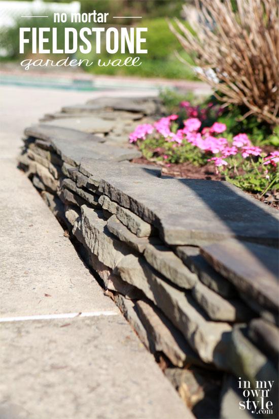 Fieldstone-garden-wall-that-uses-on-mortar