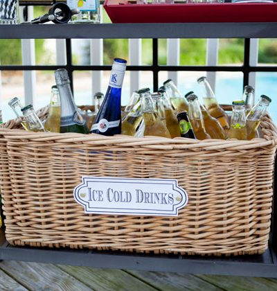 Party Cooler Basket