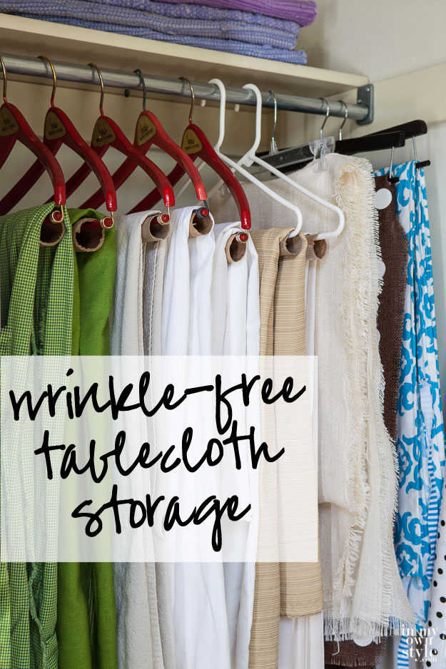 Wrinkle-free-table-cloth-storage-in-a-closet