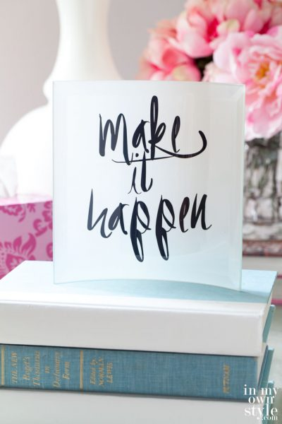 Free Printables & Glass Paperweight