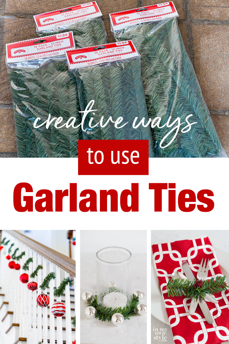 Creative ideas and uses for Christmas garland ties.
