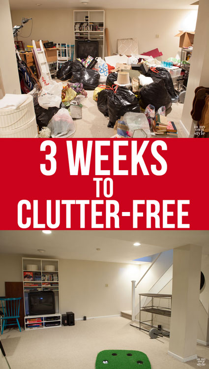 If I can tackle the clutter in my home, so can you by following the steps I took to get it done.   In My Own Style