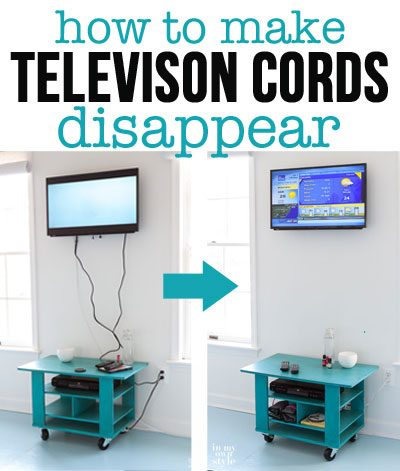 How to Hide Cords on a Wall Mounted TV | In My Own Style Hiding Wiring on