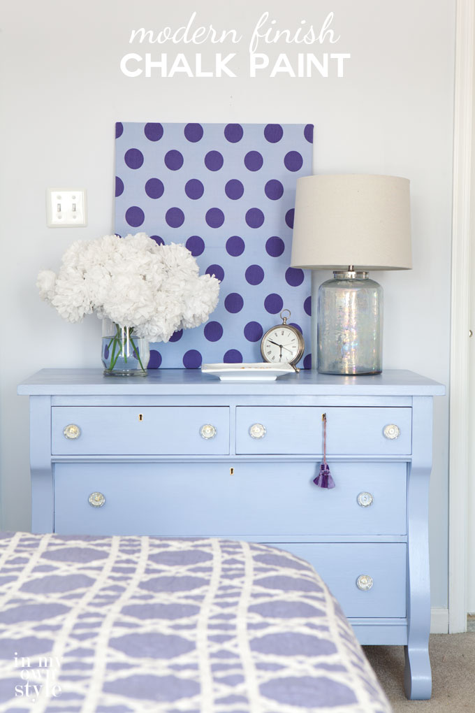 How to create a modern finish on furniture using chalk paint