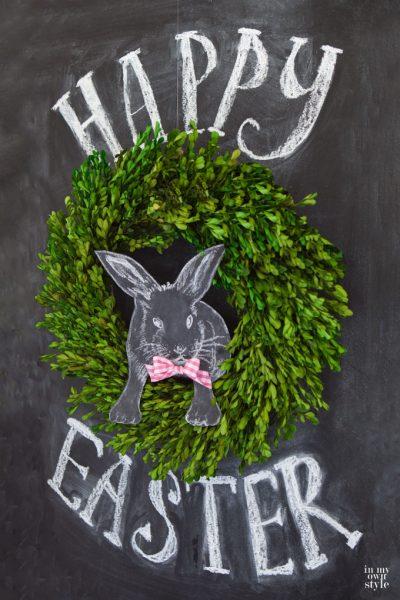 3D Easter Chalkboard Art