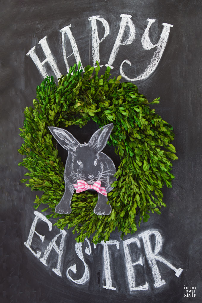 Happy Easter 3D Chalkboard Art