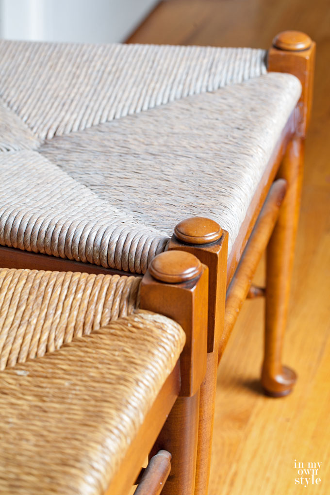 How to stain rush seats using driftwood finish stain