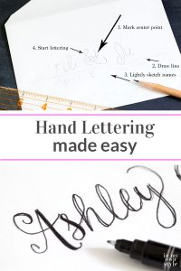 No fancy calligraphy skills needed to create pretty hand lettering for envelopes, chalkboards and more. Follow these easy steps and in no time you will be creating your own unique hand lettering or script