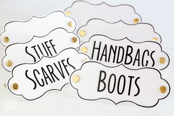 Free printable labels to use around your home to help you stay organized
