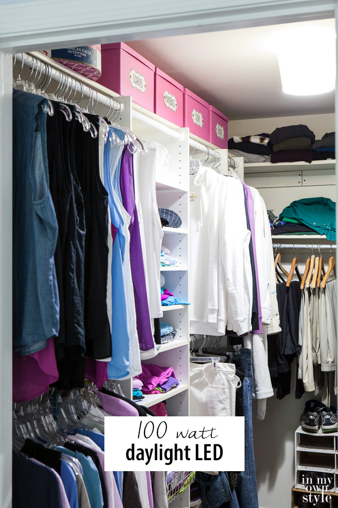 How to get the right light in a closet so you can see the true colors of your clothes