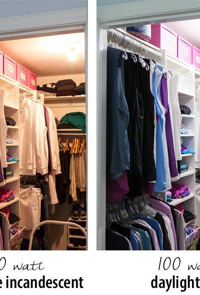 Clothes Closet LED Lighting Comparison
