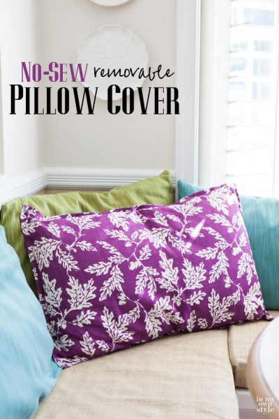Large, No-Sew Pillow To Make